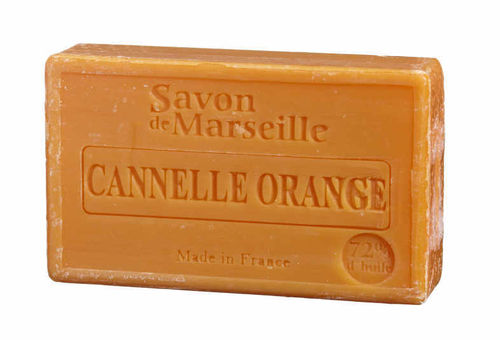 Seife/Savon de Marseille 100g CANNELLE-ORANGE / ZIMT-ORANGE
