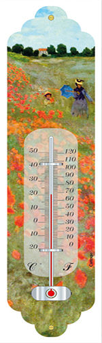 "Thermometer MONET ""Mohnfeld bei Argenteuil - Les Coquelicots"""
