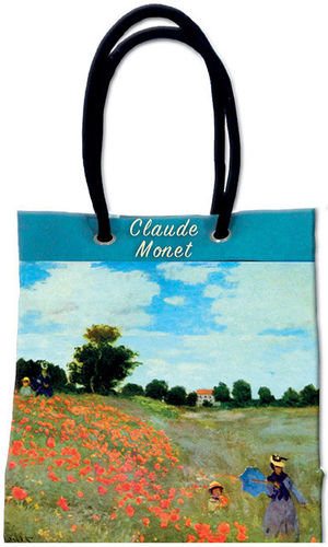 "Canvas-Stofftasche  MONET ""Mohnfeld bei Argenteuil - Les Coquelicots"""